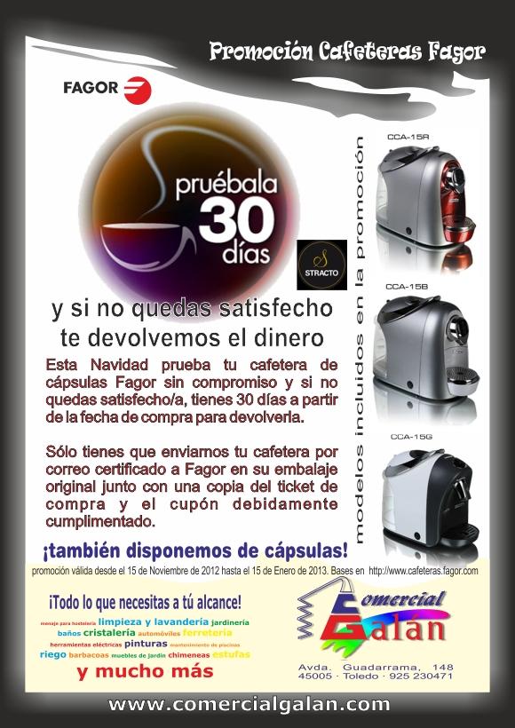 Promoción Prueba Cafeteras Fagor Gratis