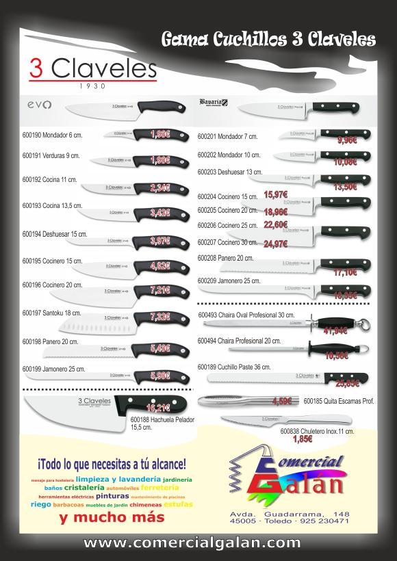 Gama de Cuchillos Profesionales 3 Claveles