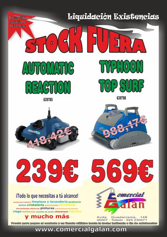¡¡¡ STOCK FUERA !!! Liquidación Limpiafondos TYPHOON