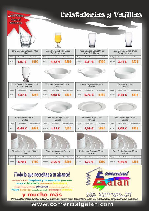 Promoción Vajillas y Cristalerías Enero-Febrero 2014