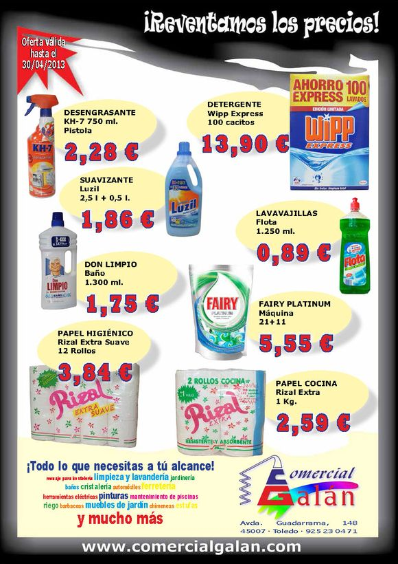 ¡Reventamos los Precios! Marzo-Abril 2013