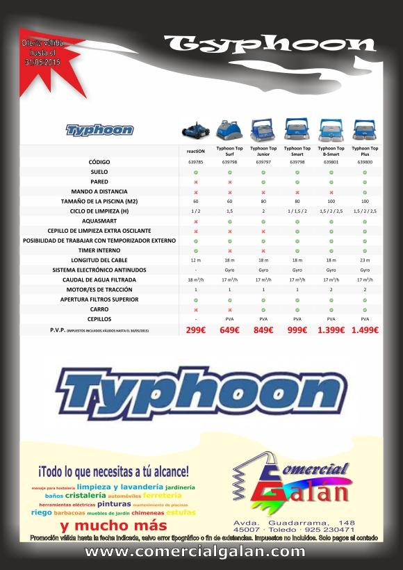 Oferta Limpiafondos Thyphoon