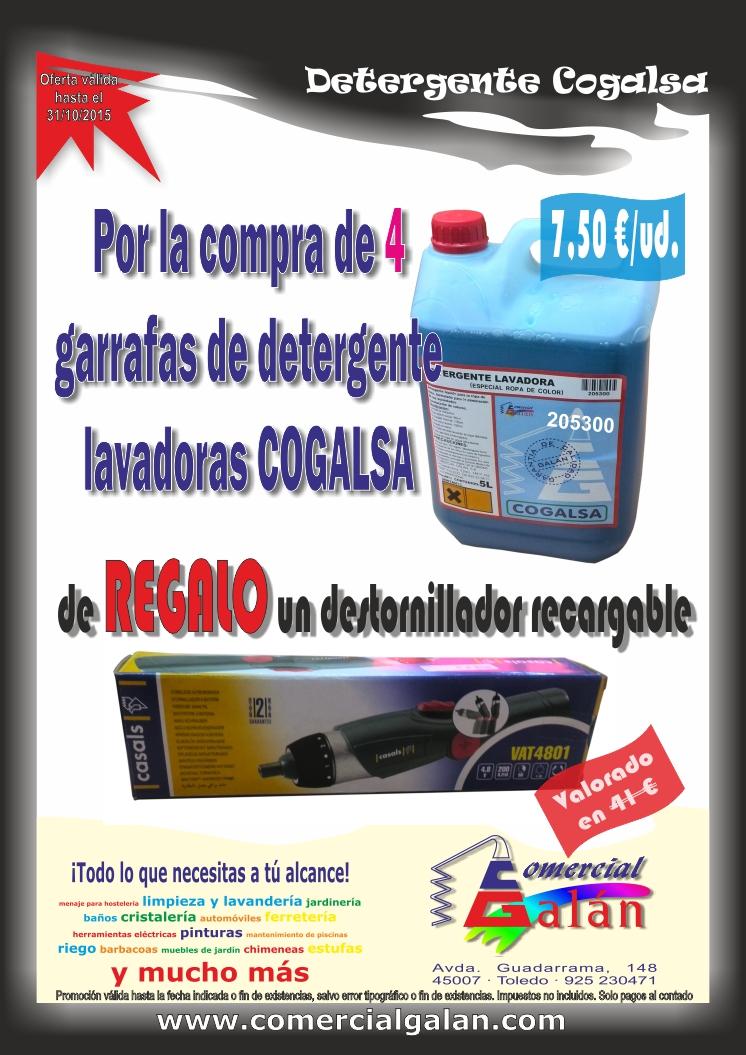 Promoción Presentación Detergente Lavadora COGALSA