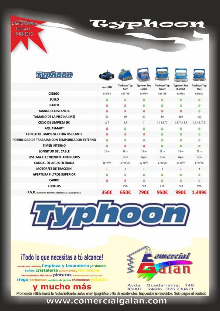 Limpiafondos Typhoon